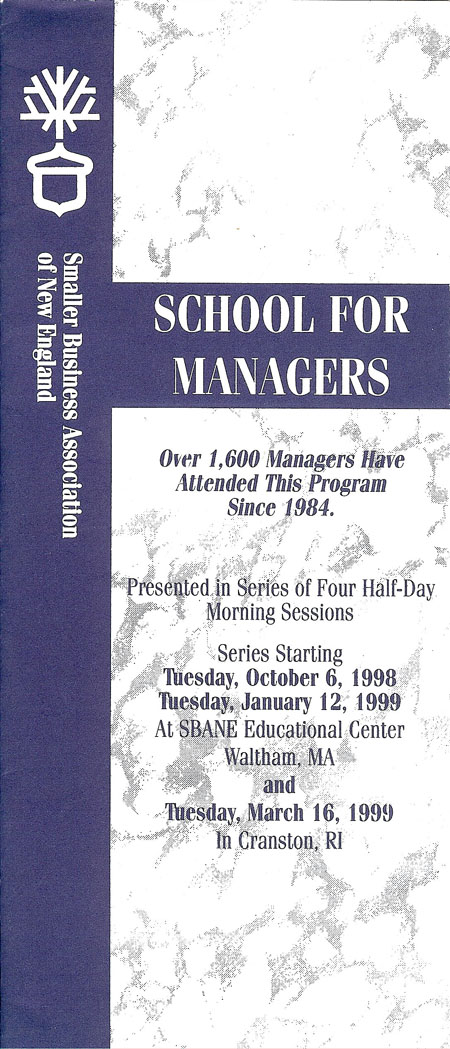 School for Managers 1998-1999 version 2