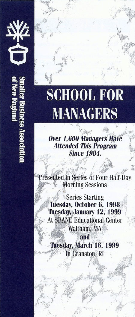 School for Managers 1998-1999