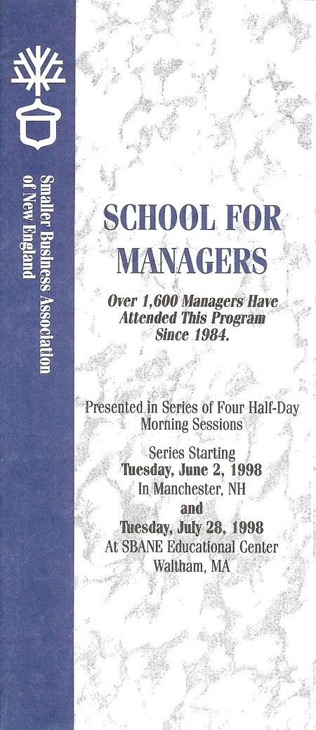 School for Managers 1998