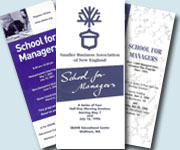 School for Managers Brochures